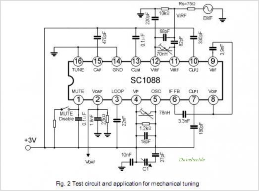SC1088 AUTO SEARCH TUNING FM RADIO RECEIVER - schematic