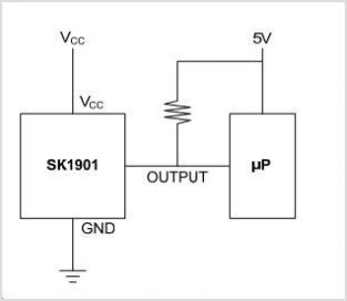 SK1901 Hall-effect Switch For High-temperature Opera - schematic
