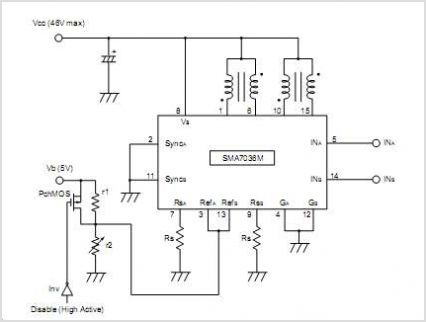 SMA7036M 2-Phase Stepper Motor Unipolar Driver ICs - schematic