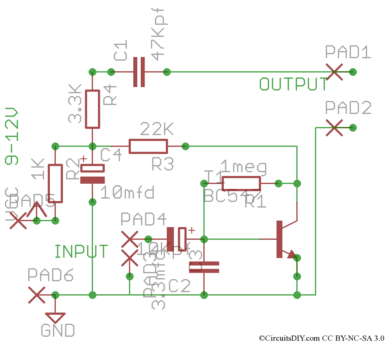 Audio Preamplifiers Circuits Page 4 Automatic Gain Control Preamplifier Circuit Diagram Simple For Microphones Tape Heads Etc