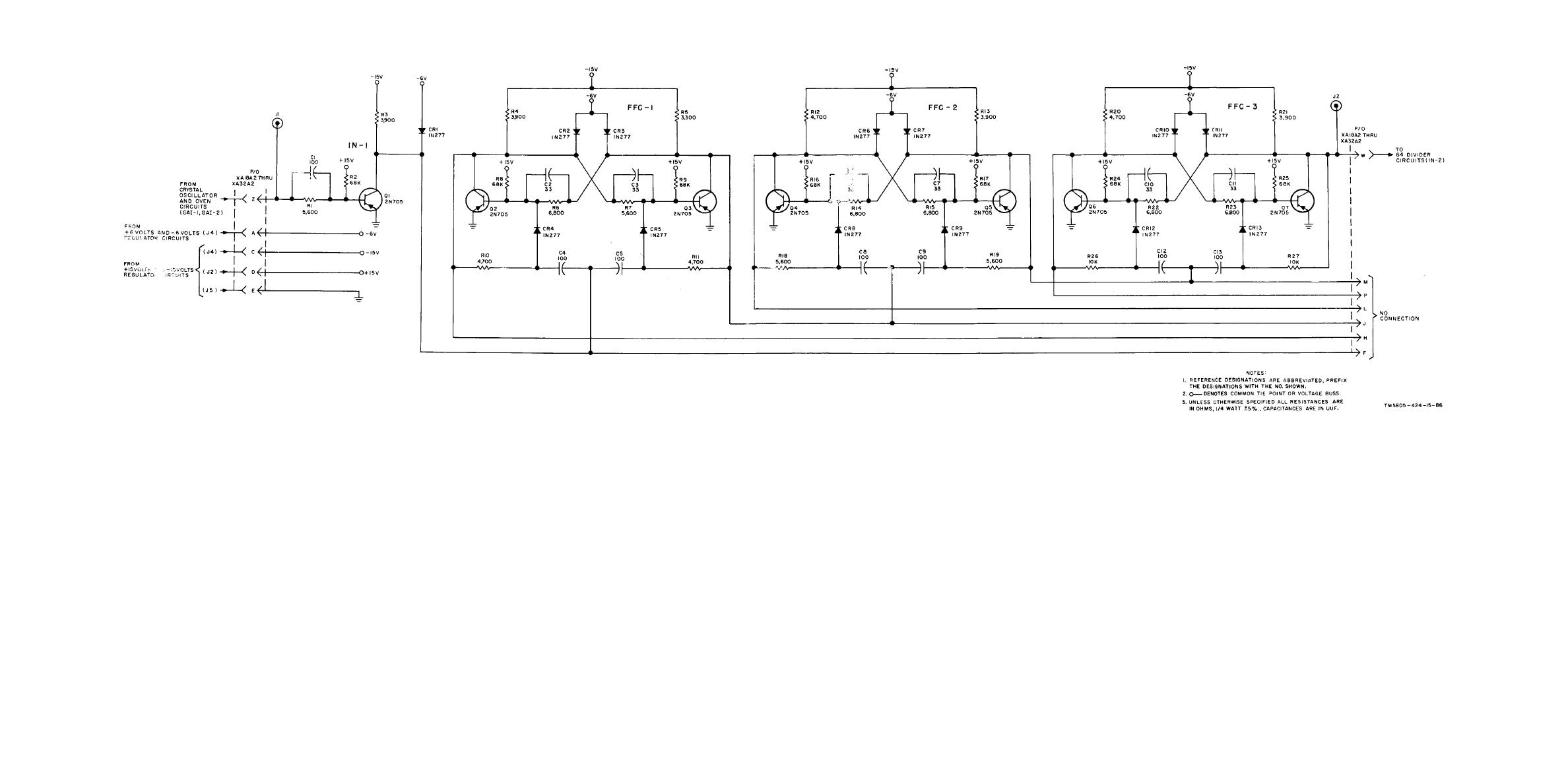 New Circuits Page 14 Voltdividercircuitdiagramgif 3190 Bytes Three Stage Frequency Divider