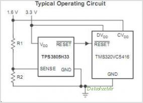 TPS3803G15 Single Voltage Detector - schematic