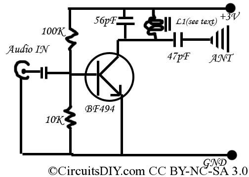 the simplest fm transmitter ever made - schematic