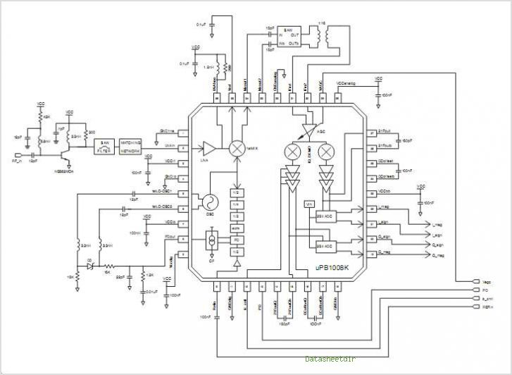 UPB1008K NECs LOW POWER GPS RF RECEIVER - schematic