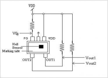 WSH412 Hall Effect Sensor IC With Thermal Lock Protection And Auto Restart Function - schematic
