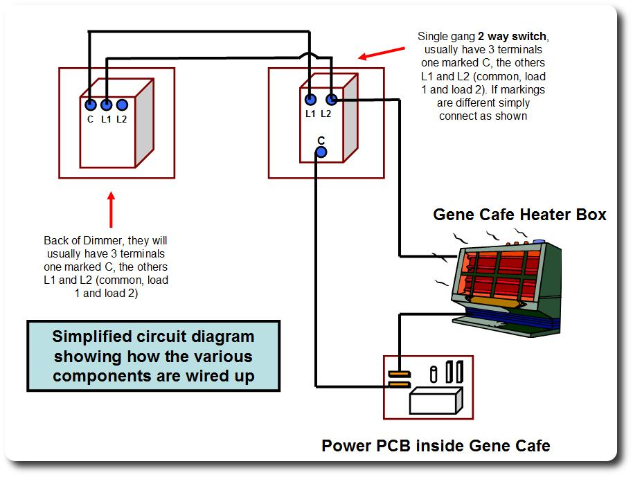 Gene Cafe Dimmer Control Mod - schematic