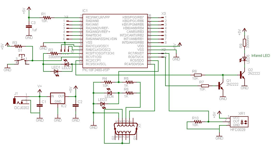 Infrared Transmit and Receive - schematic