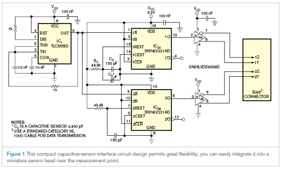 Precision capacitive sensor interface