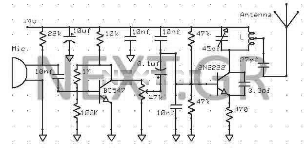 Quality FM-TV micro transmitter 40-200 Mhz - img1