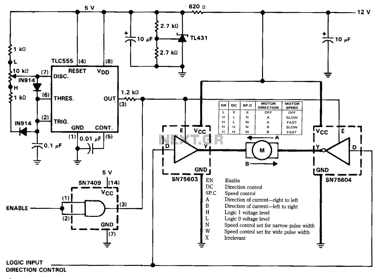 rangkaian pengatur kecepatan motor dc