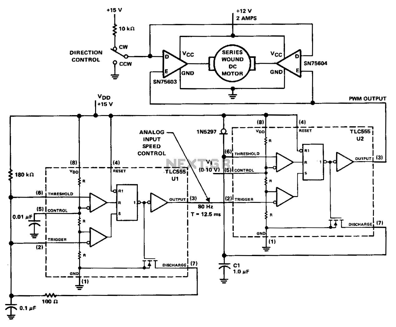 Pwm-motor-controller - schematic