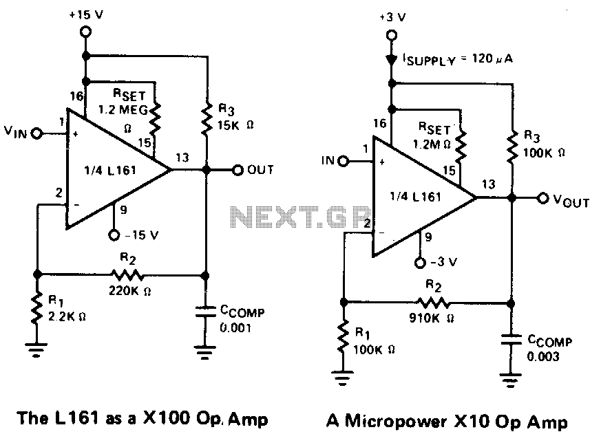 Operational-amplifiers - schematic