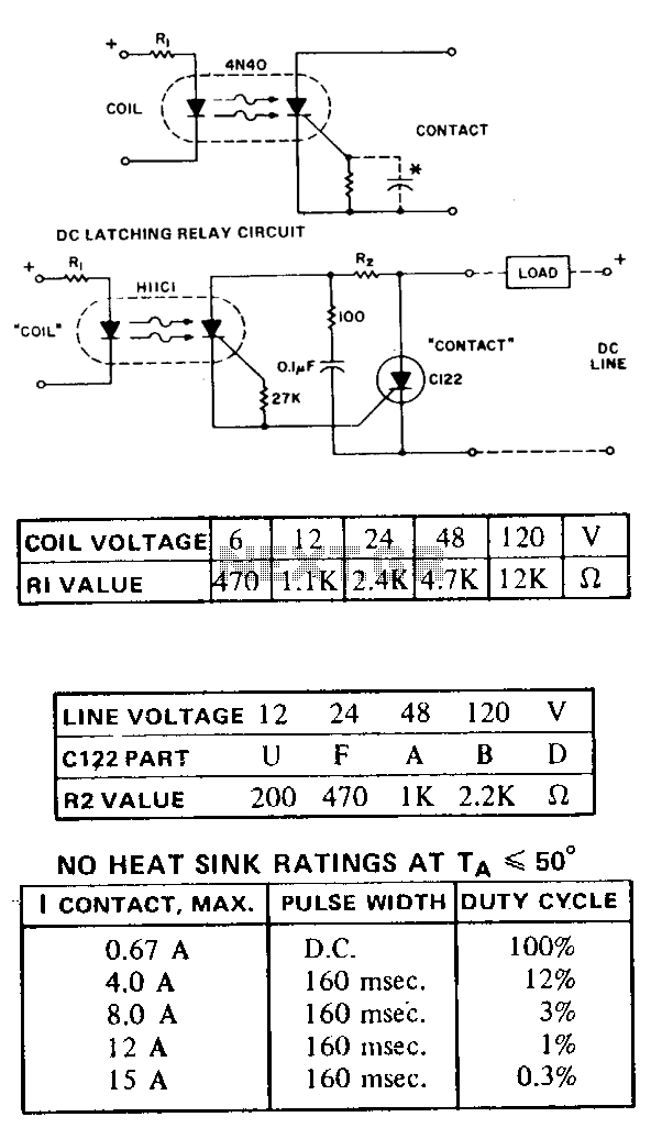 Dc-latching-relay - schematic