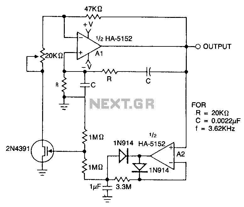 Low-voltage-wien-bridge-oscillator