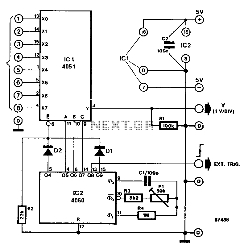 Eight-channel-voltage-display - schematic