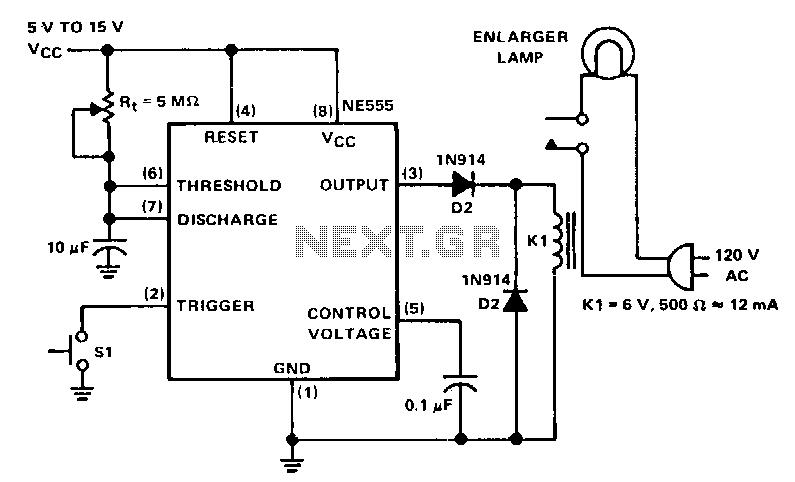 Darkroom-enlarger-timer - schematic
