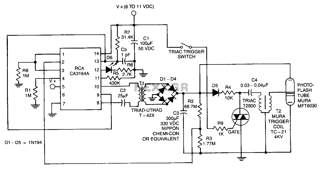 Electronic-photoflash - schematic