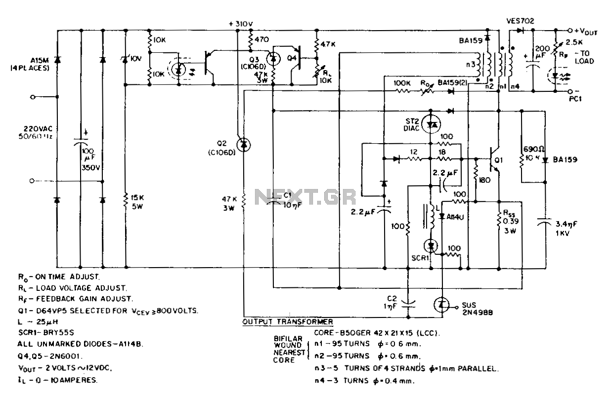 Switching Power Supply Circuits Simple Rf Switch Circuit Diagram Electronic Diagrams