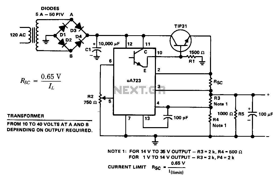 Popular Circuits Page 63 Push Button On Off Switch Using Tl071 Opamp Circuit Diagram General Purpose Power Supply