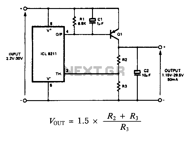Positive-regulator-with-pnp-boost - schematic