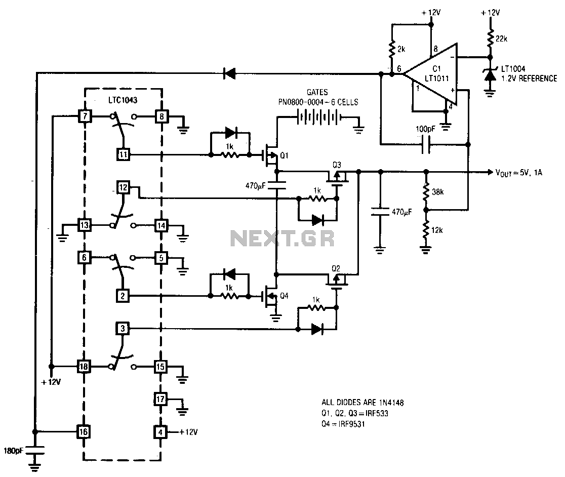 Switching-regulator - schematic