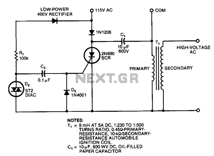 Simple-high-voltage-supply - schematic
