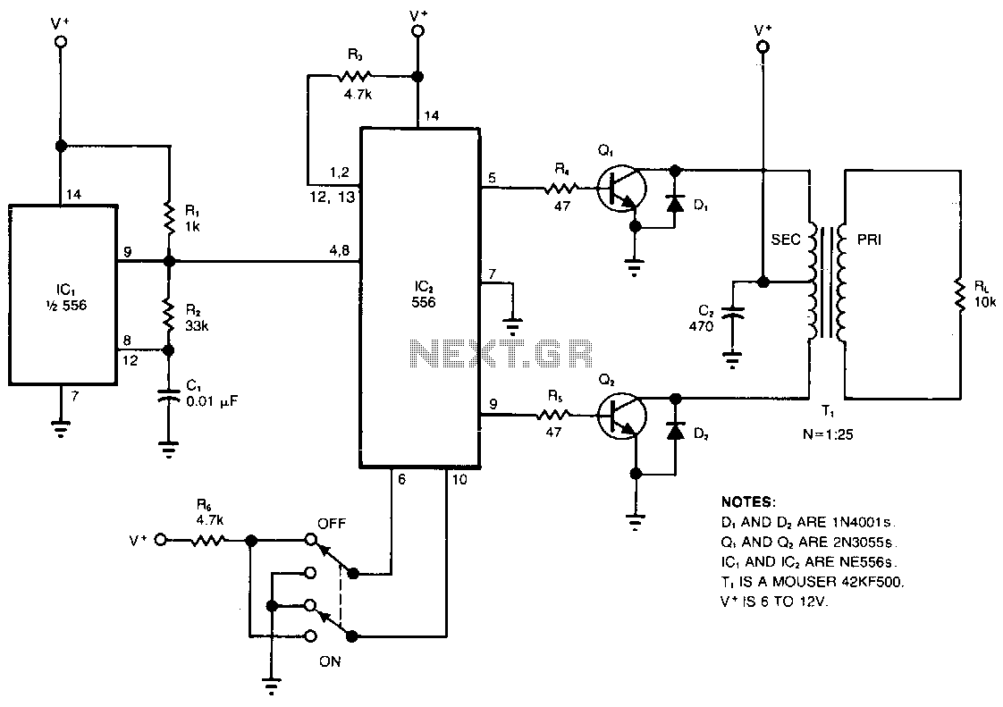 High Voltage Circuit Power Supply Circuits Diagram Complementary Ttl Inverter
