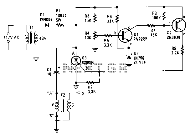 Capacitor-discharge-high-voltage-generator - schematic