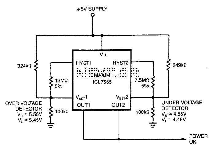 Single-supply-fault-monitor - schematic