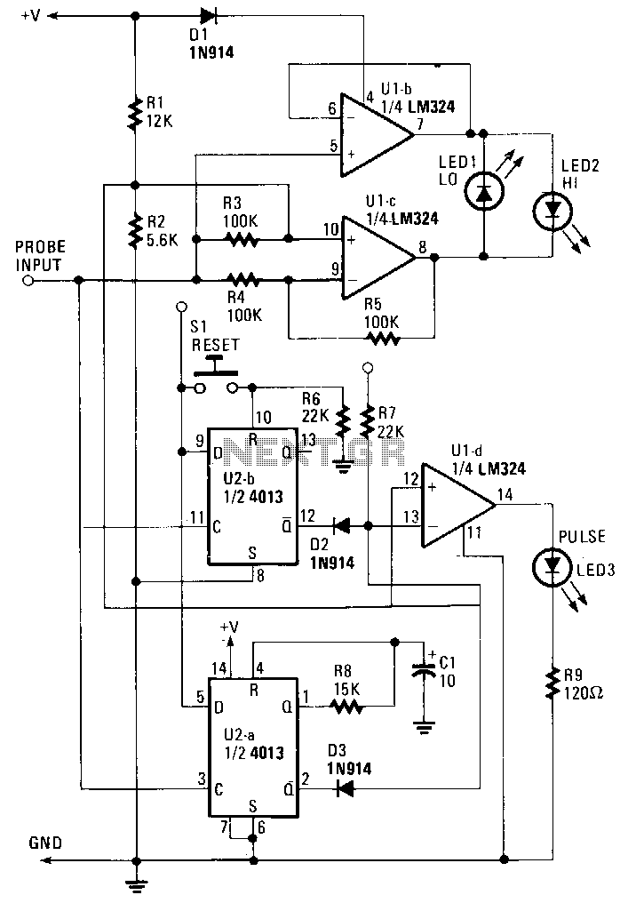 Digital-logic-probe - schematic
