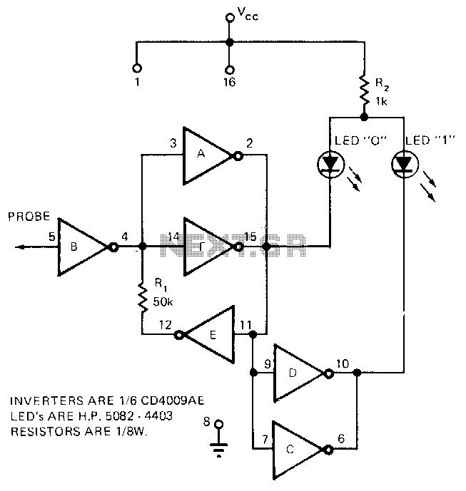 Cmos-universal-logic-probe