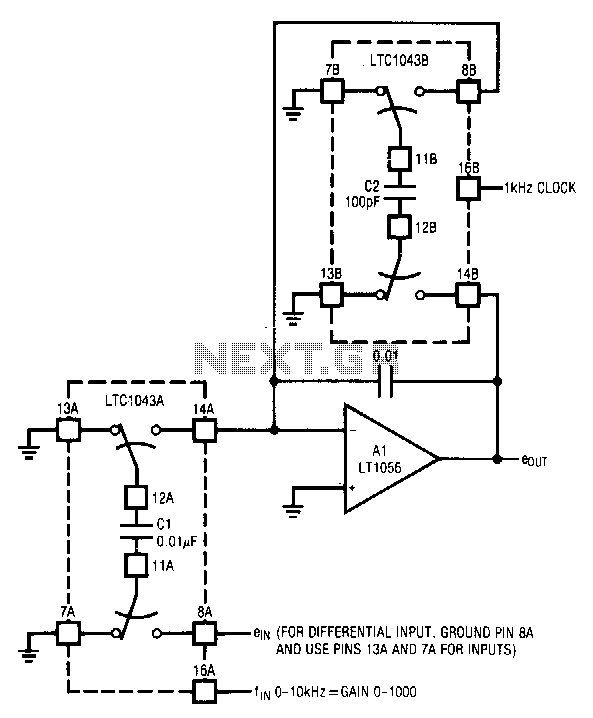 Wide-range-digitally-controlled-variable-gain-amplifier - schematic