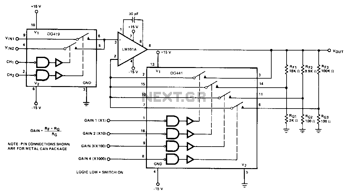 Digitally-programmable-precision-amplifier - schematic