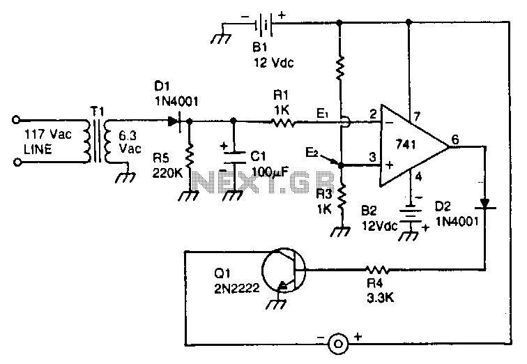Line-voltage-monitor - schematic