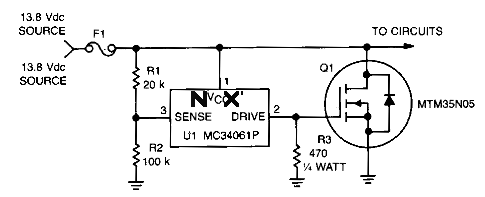 Fast-overvoltage-protector - schematic