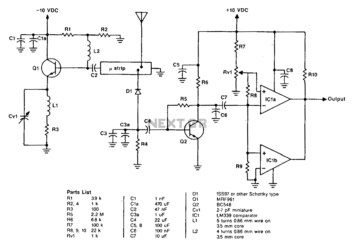 Uhf Circuit Rf Circuits Diagram Water Level Indicator Movement Detector