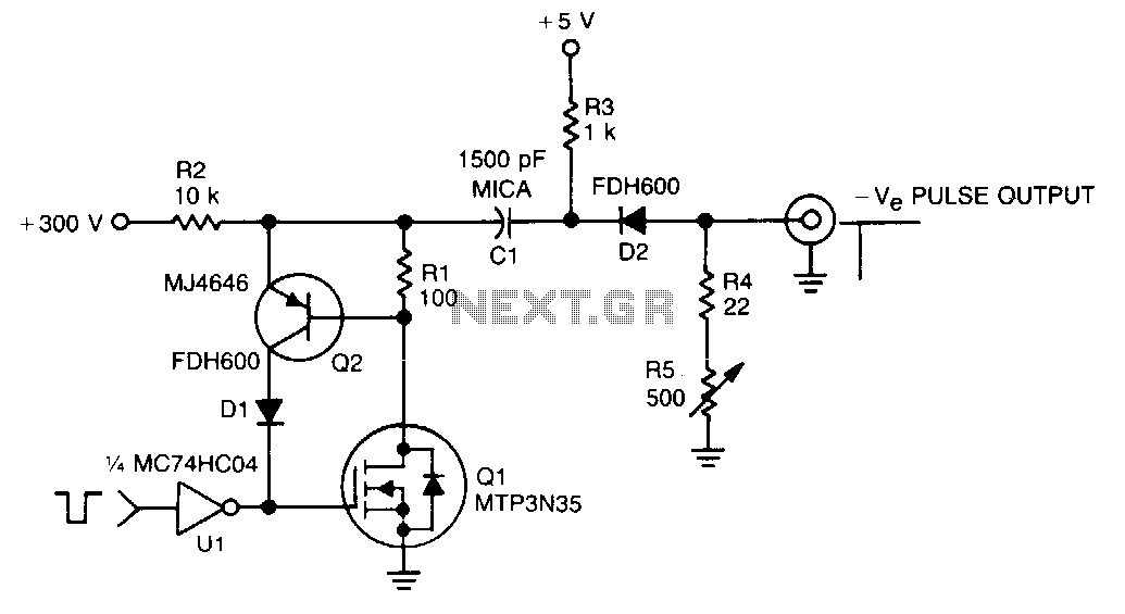 300V-pulse-generator - schematic