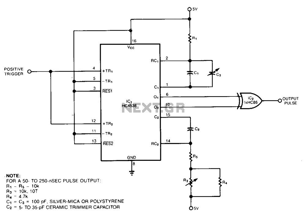 Cmos-short-pulse-generator - schematic
