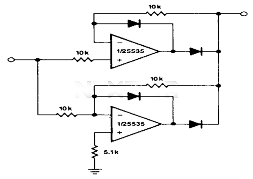 Precision-full-wave-rectifier - schematic