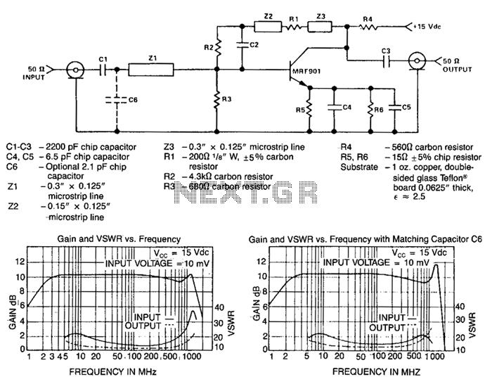 10Db-gain-amplifier - schematic