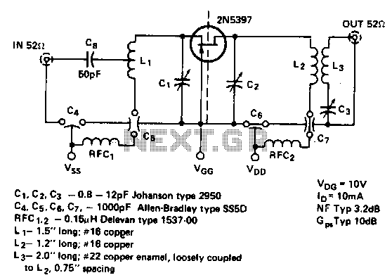450Mhz-common-gate-amplifier