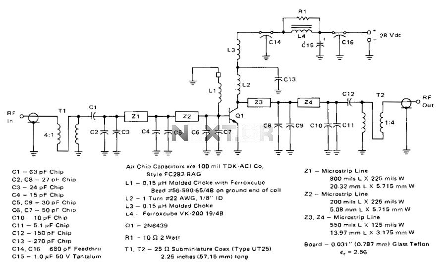 60W-225-400mhz-amplifier - schematic