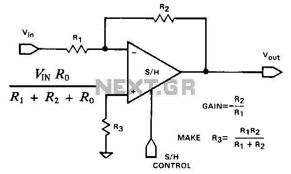 Inverting-sample-and-hold - schematic