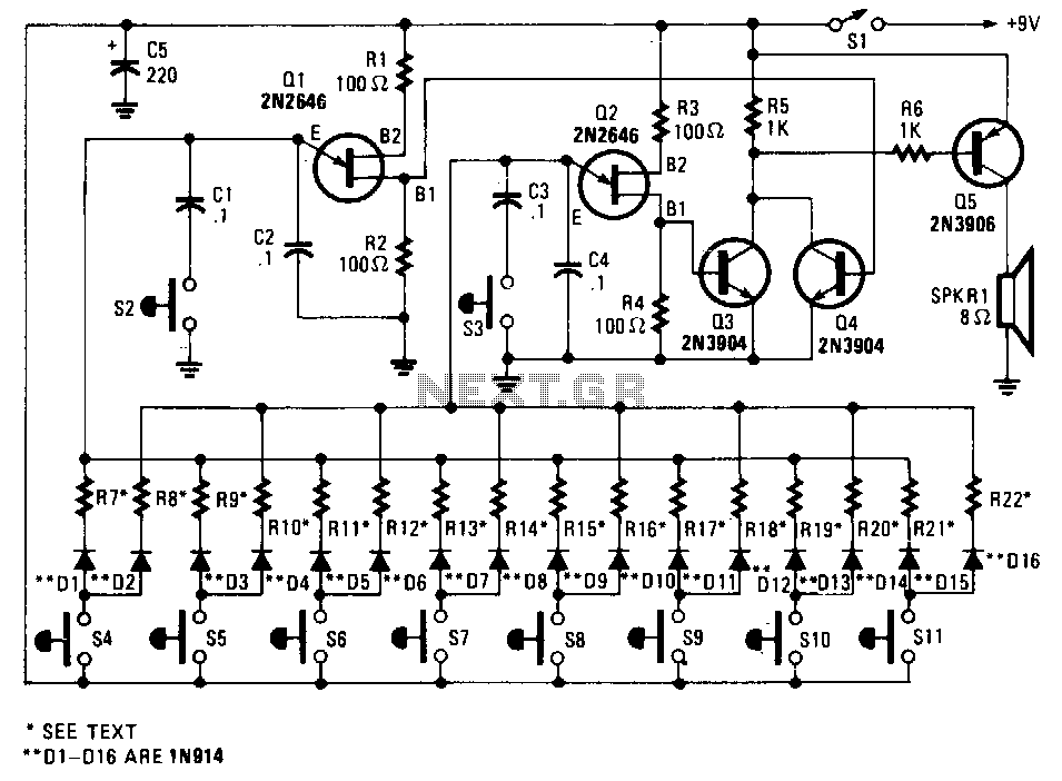 symbol electronic for schematic selector swithc