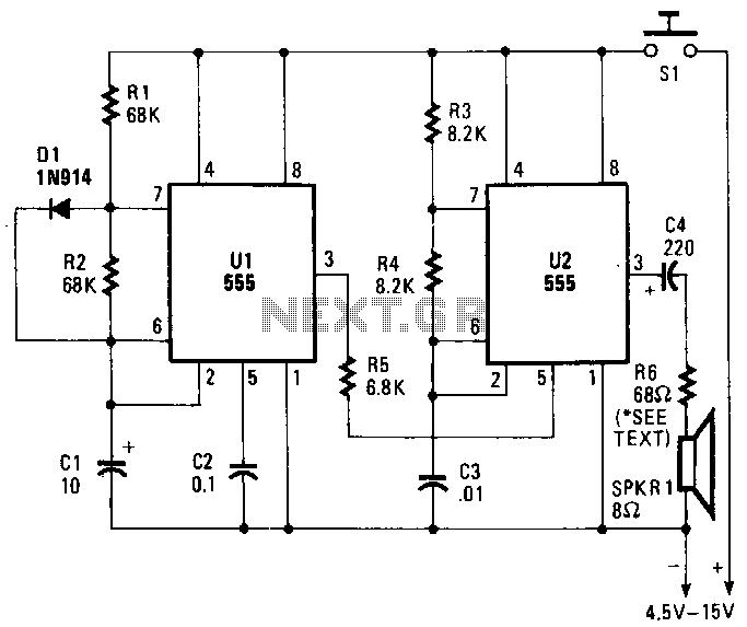 Hee-haw-slren - schematic