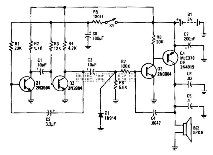 Electronic-bird-chirper - schematic