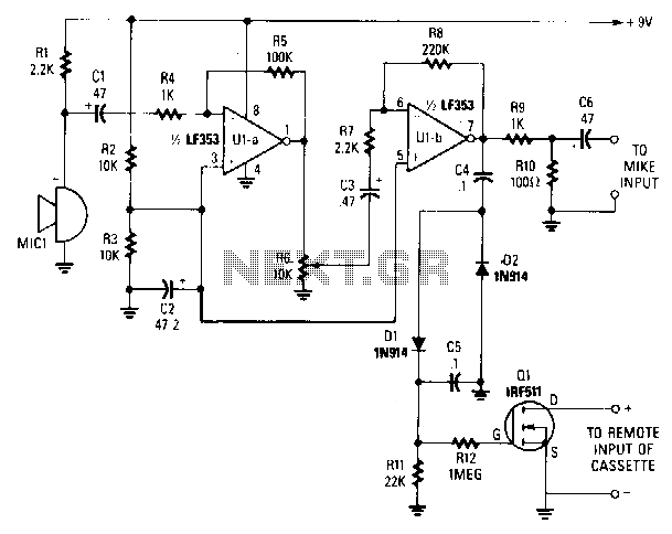 Sound-activated-switch - schematic
