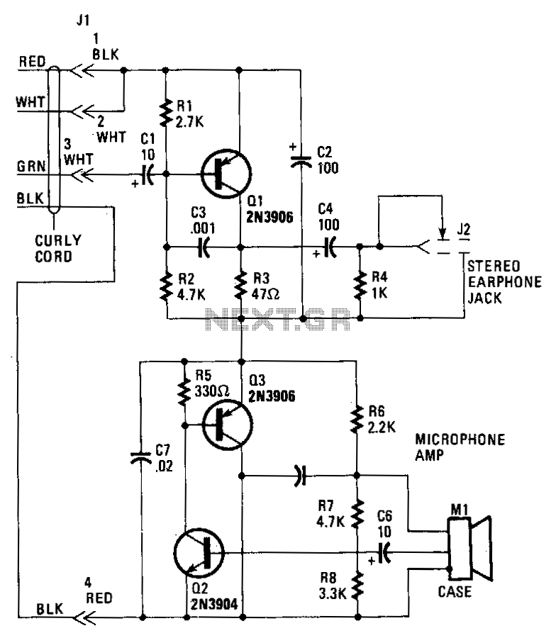 Hands-free-telephone - schematic