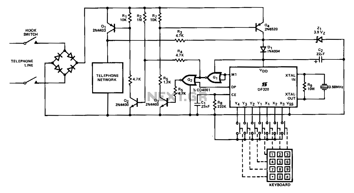 Parallel-telephone-connection - schematic
