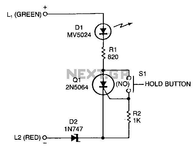 Add-on-telephone-hold-button - schematic